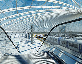 Train Station Building Interior 2 3D