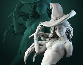 3D printable model Anita the Young Witch bust