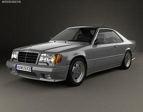 3D model Mercedes-Benz E-Class AMG coupe 1988