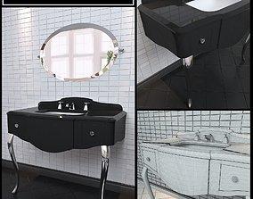 3D model Washbasin Devon and Devon console Miami