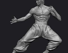 3D model Bruce Lee Statue Zbrush