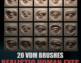 HUMAN EYES 20 VDM Brushes 3D model