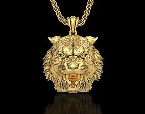 3D print model The Tiger Head Pendant