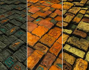 3D asset Aztec Stone Tiles Game Textures