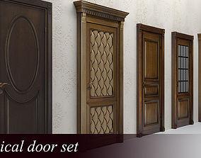 Classical doors set 3D