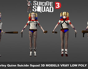 low-poly HarleyQuinn SuicideSquad v2 3D Models
