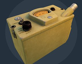 Dosimeter 3d model low-poly