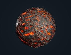 Lava Ground Seamless PBR Texture 13 3D model
