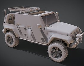 Jeep Wrangler Unlimited Rubicon Off 3D printable model