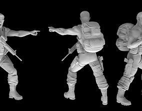 3D print model Paramilitar Zombie Survivors zombie
