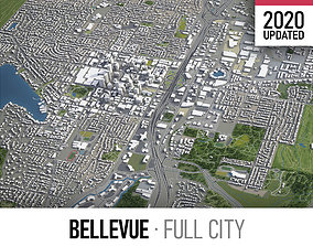 Bellevue - city and surroundings 3D asset