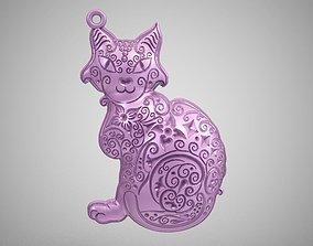 Cat Pendant pet 3D print model
