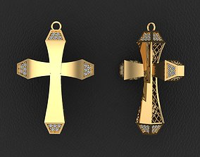 Fashion Gold Cross with Gemstones 4