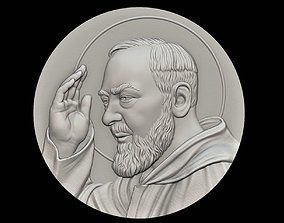 3D print model Padre Pio Medallion