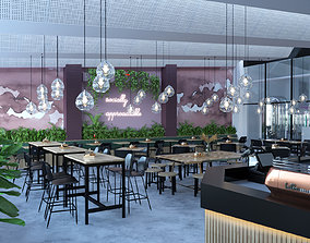 3D model Cafe Pink and Green