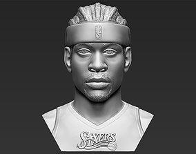 Allen Iverson bust 3D printing ready stl obj