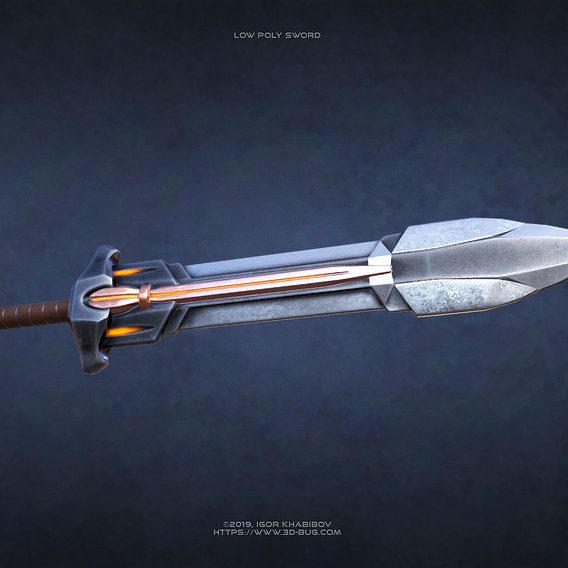 Low poly Sword