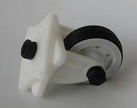 Castor Wheel 3D print model