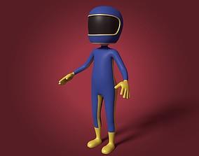 3D asset Cartoon Biker - Stickman