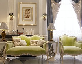 realistic chair sofa walls ceiling 3D print model