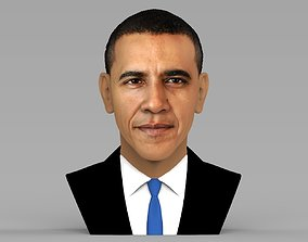 Barack Obama bust ready for full color 3D printing
