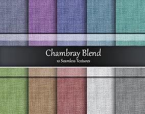 Chambray Blend Fabrics Seamless Textures Set 3D