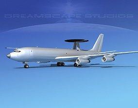 3D Boeing E-3B Sentry AEW Bare Metal