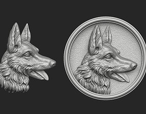 3D printable model German Shepherd Bas-Relief