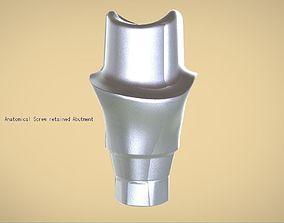 3D printable model Digital Anatomical Screw Retained