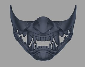 Kitana Samurai mask for face from Mortal 3D print model 1