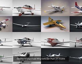General Aviation Fixed Wing Collection 3D model