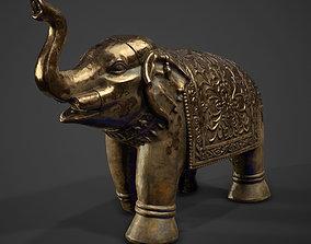 Elephant ancient statue 3D asset