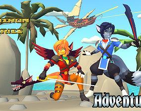 Acheron Adventurer Outfit 3D asset game-ready