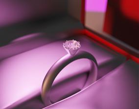 Diamond Ring 3D model rigged