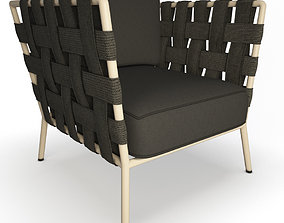 Conic Braided Armchair 3D model