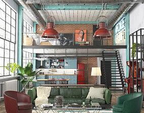 Industrial Loft REDSHIFT 3D