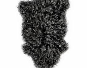 3D Bedside Sheepskin Rug Fur 02