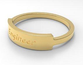 3D printable model Engineer Female Ring Gold