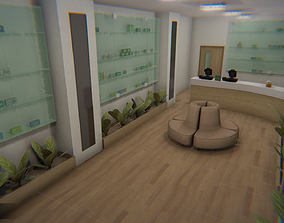 Pharmacy - interior and props 3D asset