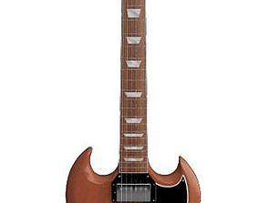 Six String Gibson Guitar 3D