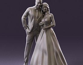 001062 wedding blonde woman man in blue 3D Print Ready