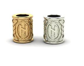 3D print model Beads with celtic rune Hagalaz