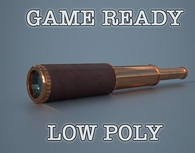 Telescope low poly game ready 3D model