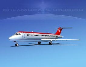 Douglas DC-9-30 Northwest 3D