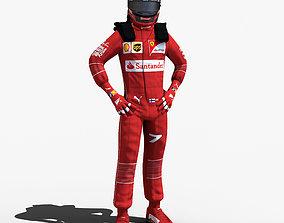 Kimi Raikkonen 2017 3D model