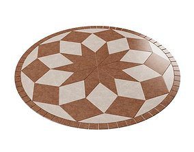 Mahogany And Beige Floor Pattern 3D model