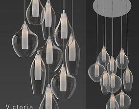 KUZCO Lighting Victoria MP3009 Pendant Light 3D model