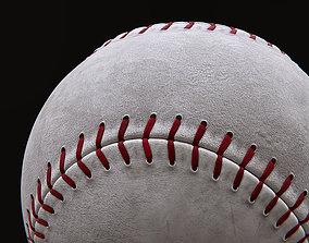 Baseball balls with textures 3D