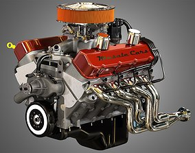 3D 572 Engine - V8 Vintage Muscle Car Engine