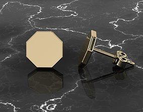 Jewelry Earring Octagon Shape 3D printable model